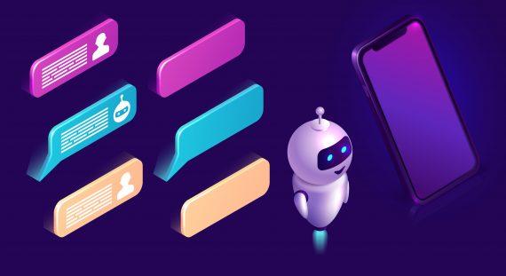 imagem com um robô para representar o uso de chatbot na comunicação política